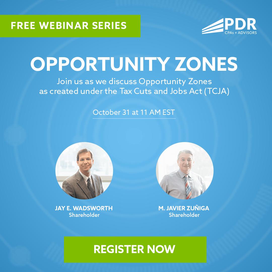 PDR Free Webinar Series - Opportunity Zones